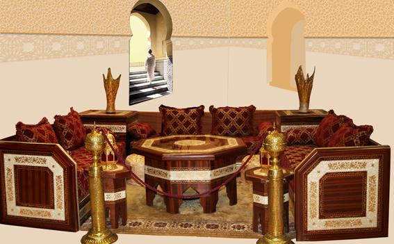Aux merveilles d 39 orient salon marocain salon oriental for Decoration des maisons marocaine