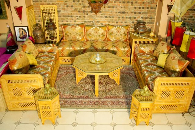 Awesome Salon Marocain Jaune Et Bleu Contemporary - Amazing Design ...